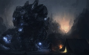 artwork, futuristic, robot, mech, fantasy art
