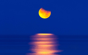 moon, nature, stunner, beautiful, light