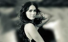 позирует, губы, девушка., модель, длинные волосы, Megan Fox