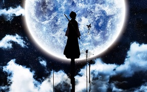 anime, moon, Bleach, Kuchiki Rukia