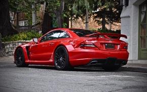 суперкар, автомобили, Мерседес бенц, красный, SL65, AMG