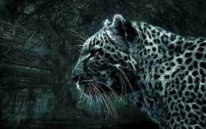 predator, beautiful, 3D, fantasy, leopard