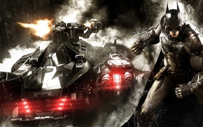 Gotham City, Batman Arkham Knight, Batman, Batmobile, Rocksteady Studios, video games