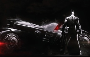 Batmobile, Batman, Gotham City, video games, Batman Arkham Knight