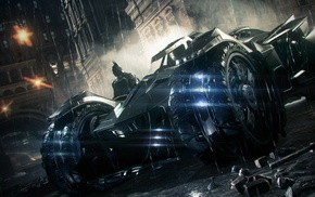 Gotham City, Rocksteady Studios, Batman, Batmobile, Batman Arkham Knight, video games