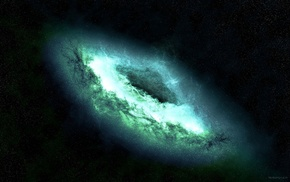 space, galaxy, glowing, space art