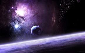 планета, туманность, космический арт