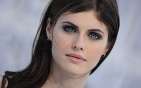 blue eyes, Alexandra Daddario, girl, brunette