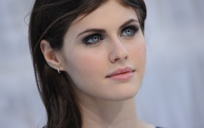 girl, brunette, blue eyes, Alexandra Daddario