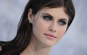 Alexandra Daddario, blue eyes, girl, brunette
