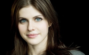 blue eyes, brunette, girl, Alexandra Daddario