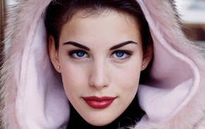 blue eyes, Liv Tyler, brunette, girl, face