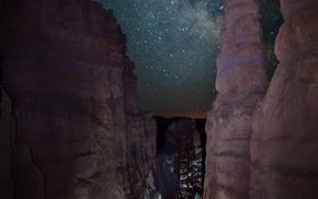 canyon, USA, night, nature, sky