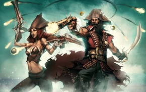 Miss Fortune, League of Legends, Gangplank, pirates