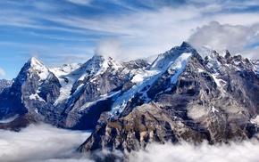 mountain, nature, mist, height
