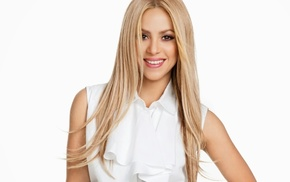 music, Shakira, blonde, long hair, smiling