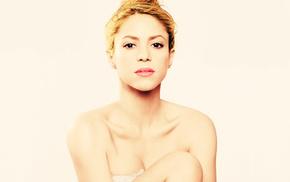 music, blonde, Shakira, lips