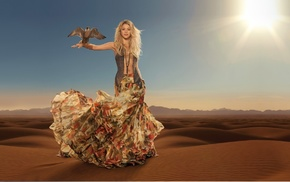 music, Shakira, decoration, wind, blonde