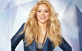 music, Shakira, long hair, blonde, tank top