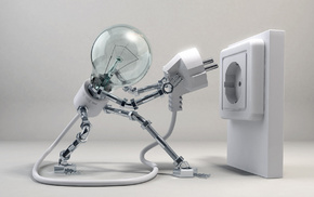 robot, light, 3D