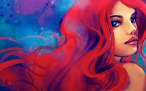 рыжие, девушка, произведение искусства, Дисней