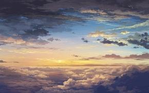 sunset, stunner, sky, clouds