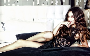 girl, brunette, Mila Kunis, actress