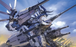 mech, robot, Ar Tonelico, fantasy art, artwork, dragon