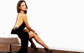 girl, Olivia Wilde, brunette, actress, black dress