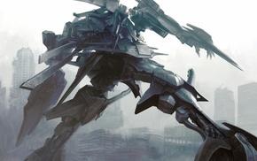 apocalyptic, mech, artwork, war, digital art, robot