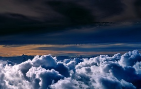 height, nature, clouds