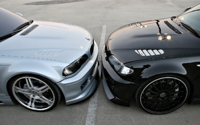 race, black, cars, BMW, tuning