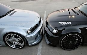 race, black, cars, BMW, tuning