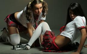 girl, girls, pantyhose