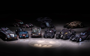 digital art, supercars, car, Batmobile, Batman Begins, Bat signal