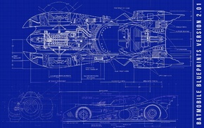 Batman, Batmobile, blueprints