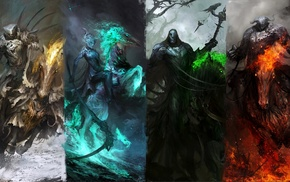 fantasy art, warrior, Four Horsemen of the Apocalypse, horse
