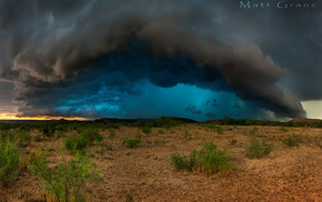 USA, nature, storm, desert