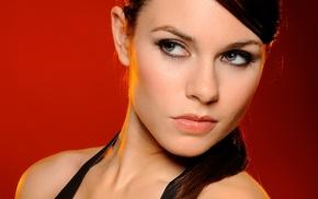 gray eyes, Alison Carroll, brunette