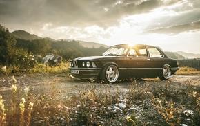 BMW, dawn, wheels, tuning, retro