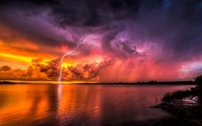 nature, beautiful, clouds, evening, stunner