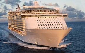 sea, summer, rest, power, cruise ship