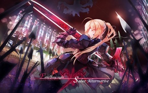 FateStay Night, Fate Series, anime girls, Saber Alter