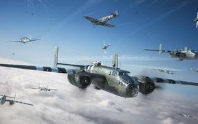 военный самолет, военные, авиация, Вторая Мировая Война, самолет