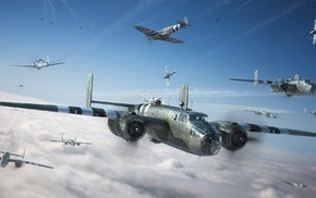 B, 25, Mitchell, military aircraft, military, aircraft