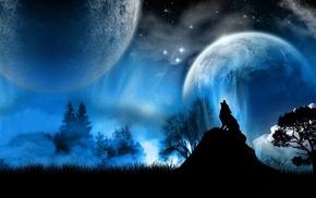 фэнтези, fantasy art, волки, wolves