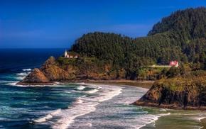 nature, landscape, stunner, house, lighthouse