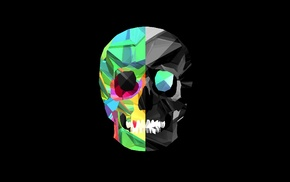 skull, black background, Justin Maller