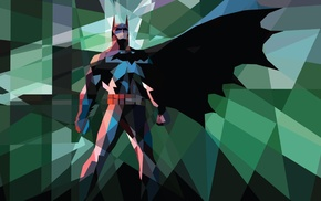 Batwoman, low poly, artwork, comics, Batman, DC Comics