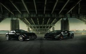 Ferrari, Феррари, автомобили, Lamborghini  Aventador, океан, суперкар